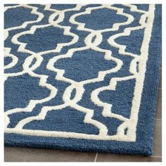 Langley Textured Accent Rug - Navy/Ivory (Blue/Ivory) (2'6 X 12') - Safavieh