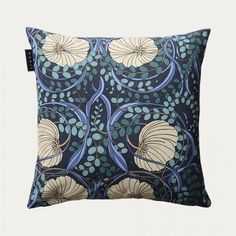 Nouveau Cushion Cover – Dark Charcoal Grey | Cushion covers | Living Room | Spring | Linum