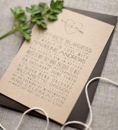 rustic wedding invite