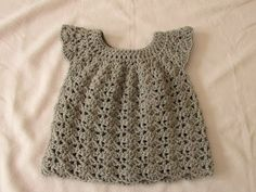 How to crochet an easy shell stitch baby / girl's dress for beginners - YouTube