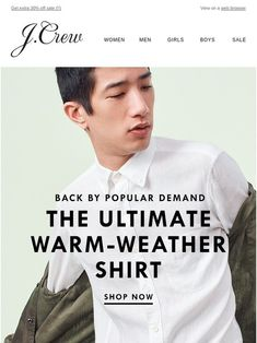 Back by popular demand: linen shirts - J.Crew