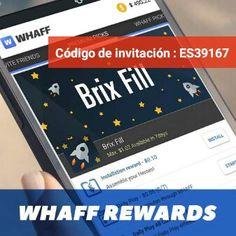 Hola!! Descarga whaff rewards y pon el codigo que se muestra en la imagen y ganaras dinero facil;)