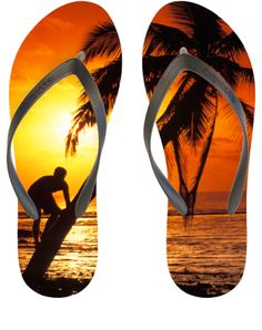 Coconut Tree Climber Flip Flop from WaterEnvy.com