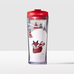 Winter Fox Acrylic Tumbler. This tumbler was created to get you from shopping trips to family visits and back again.