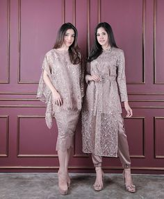 💕light brown💕 Right : amar (Price Left: riyyu (Price Fit t. 💕light brown💕 Right : amar (Price Left: riyyu (Price Fit to L 💕READY STOCK💕 Kebaya Modern Hijab, Dress Brokat Modern, Model Kebaya Modern, Kebaya Hijab, Kebaya Muslim, Dress Brokat Muslim, Dress Brukat, Hijab Dress Party, Batik Dress