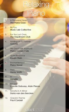 We have put together 12 of the most relaxing pieces of piano music. So no matter how stressful your day is you can sit back and unwind with this playlist. Most Relaxing Song, Relaxing Music, Music Mood, Mood Songs, Piano Songs, Piano Music, Enya Music, Reggae Music, Musica Pop Rock