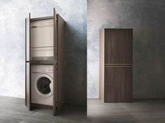 Colonna porta lavatrice e asciugatrice . facilissimo nascondere la lavatrice e l'asciugatrice con il mobile da bagno Movida