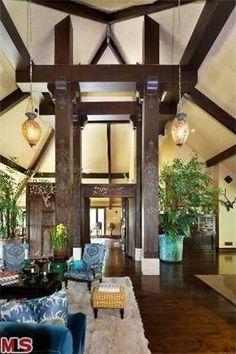 Supermodel #CherylTiegs' Living Room