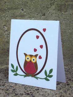 Owl card with the Stampin Up owl punch by marcie