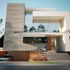 El reflejo del vidrio espejo, ayuda a la fachada de la casa, dandole una mejor vista.