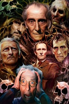 "Classic Hammer Films : Art ""The Masters Of Horror"" Peter Cushing by Paul Winters"