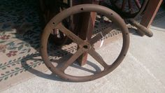 1920's Steering Wheel - Original Vintage Automobile Part by VintageRelics802 on Etsy
