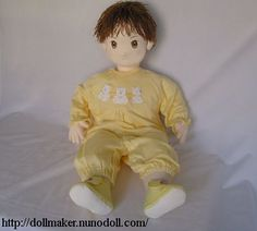 """Life size baby doll, 24"""" Free pattern  instructions. (You have to make your own face.)"""