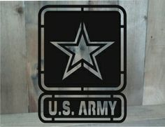Metal cut out Army sign from MetalDesignWorx.com. Can be personalized! Many designs!