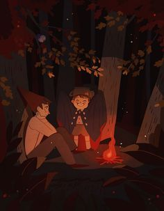 """Wirt and Greg of """"Over the garden wall"""" by Constant"""