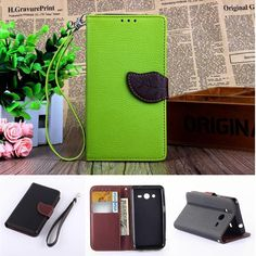 Leaf Buckle Leather Phone Case For Samsung Galaxy Core2 Core 2 SM G355H G3559 Cover Wallet Card Holder Flip Stand Wrist Strap