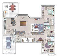 Plan habillé Rdc - maison - Une maison autonome en énergie