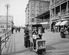 Girl With Doll Ride Atlantic City 1905 Vintage 8x10 Reprint Of Old Photo Girl With Doll Ride Atlantic City 1905 Vintage 8x10 Reprint Of Old Photo This is an excellent reproduction of an old photo. Rep