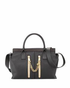 Cate Perforated Medium Shoulder Bag, Black by Chloe at Bergdorf Goodman.