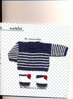 marine sweater model and baby booties Source by dantoncu Baby Knitting Patterns, Baby Pants Pattern, Crochet Cardigan Pattern, Diy Crafts Knitting, Easy Knitting, Pull Crochet, Crochet Baby, Tricot Baby, Pull Bebe