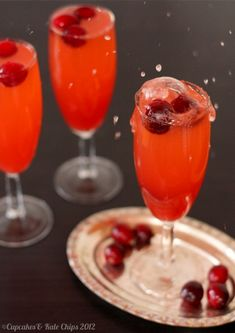 """<p><span style=""""font-family: arial, sans, sans-serif;font-size: 13px"""">Made from fresh cranberries and orange juice, enjoy this bubbly beverage for brunch. <a href=""""http://cupcakesandkalechips.com/cranberry-sparkler-mocktail-for-sundaysupper/"""" target=""""_blank"""">Get the recipe HERE!</a></span></p>"""