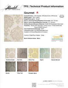 Alendel Fabrics Bourbon TPS | Technical Product Information Sheet