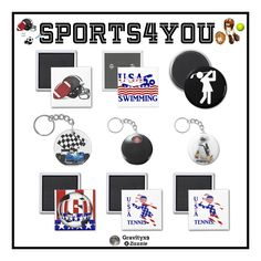 A small Collection of Gifts available ~ All-Sport Keyrings,Magnets & Pins Find your favorite sport here.  #Gravityx9  #sports4you  at Zazzle -