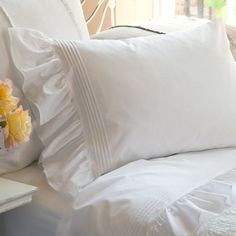 Our Margaret Collection ismade with soft cotton percale. Classic wide tucks and a 7