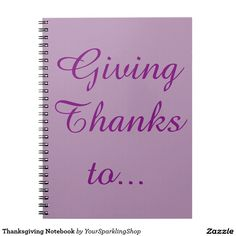 Thanksgiving Notebook