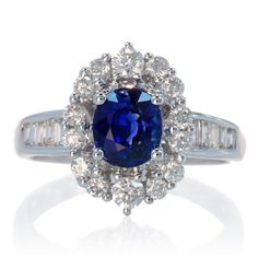 oval diamond ring with wedding band | Sapphire oval Ceylon sapphire diamond halo solitaire engagement ring