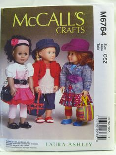 """McCall's 6764 18"""" Doll Clothes"""