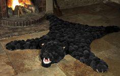 """Ковер из помпонов """"Медведь"""""""