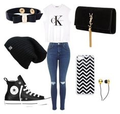 """""""Untitled #23"""" by lildcon on Polyvore featuring Calvin Klein, Salvatore Ferragamo, Yves Saint Laurent, Converse and CUL-DE-SAC"""