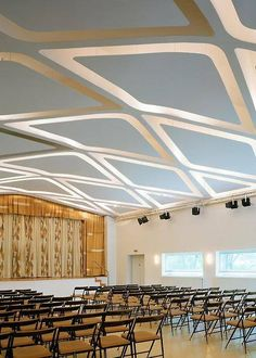 Gio Ponti.   Love the ceiling structure and the stage / patterns.