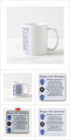 Brother Poems, Gifts For Brother, 40th Birthday, Happy Birthday, Detail Shop, Holiday Photos, Happy Brithday, Holiday Pictures, Vacation Pictures