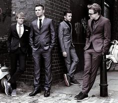 McFly looking smart in their suits!!