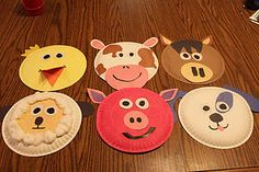 Adorable farm animal masks! (: Cute blog ideas.