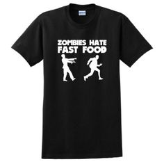 Amazon.com: Zombies Hate Fast Food Short Sleeve T-Shirt Apocalypse Response Team Rescue Defense Dead Undead Walking Human Humans Versus VS Zombies Funny Halloween Costume Short Sleeve Tee: Clothing
