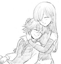 Meliodas and Elizabeth Elizabeth Seven Deadly Sins, Seven Deadly Sins Anime, 7 Deadly Sins, Meliodas And Elizabeth, Elizabeth Liones, Otaku Anime, Manga Anime, Anime Love Couple, Cute Anime Couples