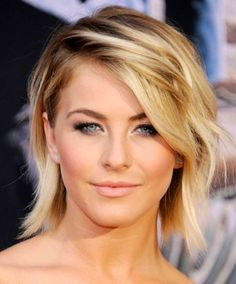 Tousled, Blonde, Cropped. See the how-tos for Julianne Hough's lob style