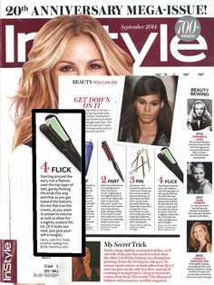 The Harry Josh Flat Iron in the September 2014 issue of InStyle!