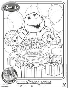 Luxury Barney Coloring Book 75 Happy Birthday Barney Printable