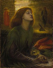 """Dante Gabriel Rossetti completed """"Beata Beatrix"""" a year after Siddal's death"""