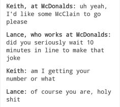 *excessive giggling for 10 minutes straight* I love these two~<<<<straight is not the adjective to use when discussing Klance