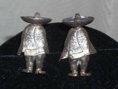 Vintage Silver Alpaca Cuff Links Mexican Hombre Sombrero Mexico Cufflinks by ShonnasVintage, $39.99
