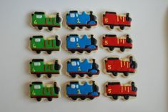 allison's cookies: :: Thomas the Train Cookies (and Percy and James) ::