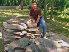 How to lay a flagstone patio (and use up the sand and gravel in our yard)