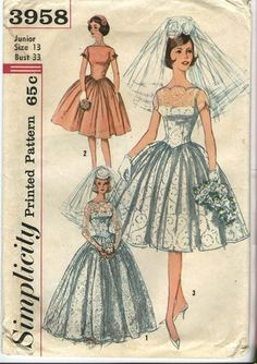 The weddings of the 1950s were all about elegance, etiquette and decorum. The sweetheart neckline was introduced in the 50s after being popularized by Elizabeth Taylor in the original Father of th…