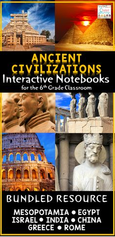 Ancient Civilizations Interactive Notebook! - Ancient Mesopotamia, Egypt, Israel, India, China, Greece & Rome. Great for the 6th grade classroom