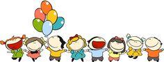 ilustracion kids globos